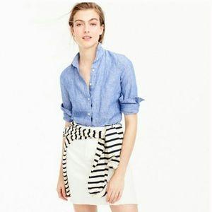 J. Crew 100% Linen Slim Fit Perfect Shirt